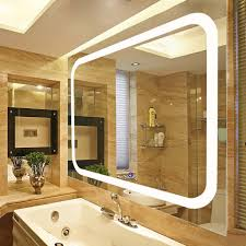 wall mounted high quality led lighted vanity mirror intended for