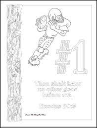 Ten Commandment Coloring Pages Free 1