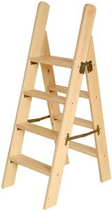 For Chair Stairway Folding Wooden Indoor Adult Stool Ladder ...