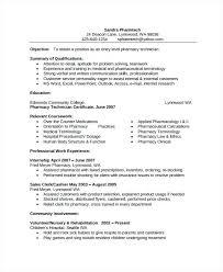 Resume Pharmacy Tech Pharmacist Curriculum Vitae Examples Crafty Inspiration Template Technician Sample Free