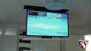 Diy Projector Mount Drop Ceiling by Drop Down Television Lift Mount Youtube