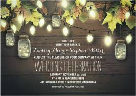 This Spectacular And Seasonal String Of Lights Fall Wedding Invitation Is Sure To Make Your Unique Worthy Or Consideration