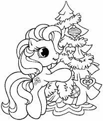 Pinkie Pie And Christmas Tree Coloring Pages