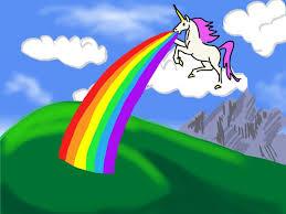 Free Unicorn Barfing Rainbows Computer Desktop Wallpaper