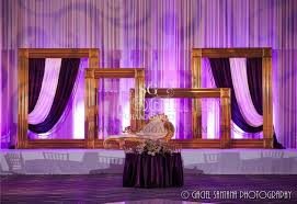 Suhaag Garden Indian Wedding Decorator Florida Reception Stage Large Oversized Photo Frames Chaise