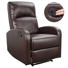100 Bright Home Theater Homall PHLBN Recliner Chair Sofa Seating Pu Leather Modern Couch Brown