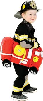 √ Toddler Boys Plush Ride In Firetruck Costume - Party City | Cute ...