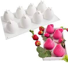 dubens obst erdbeere 3d silikon form für kuchen dekorieren mould kuchen werkzeuge 8 loch silikon mousse form backen kuchen dessert moule erdbeere
