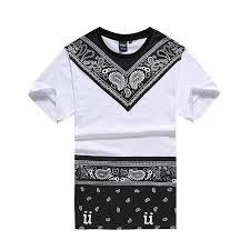 2016 New Male Bandana Shirt Swag Clothes MenS T Hip Hop Fashion Tees Pyrex Dancing Street Clothing Camisetas Tops Designer Customised