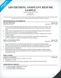 Lifeguard Resume Description Sample Fresh Free Advertising Assistant Example Fres