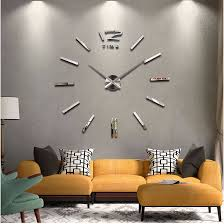 2018 New Home Decor Big Wall Clock Modern Design Living Room Quartz Metal Decorative Designer Clocks Watch Free Shipping In From
