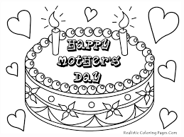 Happy Mothers Day Coloring Pages Printable Picture