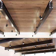 100 Wooden Ceiling Ceiling On Metal Beams 22 3D Model