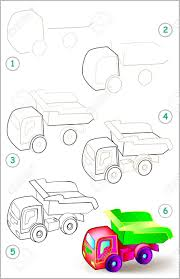 100 How To Draw A Truck Step By Step Page Shows Learn Y Tipper