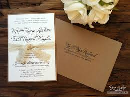 Rustic Wedding Invitation Kraft Lace By Paper