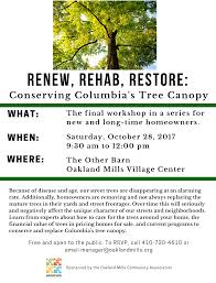 Renew, Rehab, Restore: Conserving Columbia's Tree Canopy | Oakland ... Photo Gallery Oakland Mills The Crane Estate Rawlings Conservatory Wedding Evening Pinterest Venues Approved Catering Sites Dean And Brown Other Barn Putting On The Ritz Sykesville Reviews For Columbia Howard County Marylands Future Jaybirds Jottings Ellicott City 2016