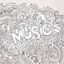 Enjoy This Free Black And White Music Advanced Coloring Page