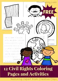 Civil Rights Printable Pack FREE Coloring Pages And Activities For Black History