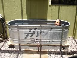 bathtubs charming cool bathtub 17 galvanized water trough