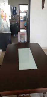 PF Gently Used 6 Seater Wooden Dining Table In Good Condition Quikr Product Not For Sale