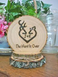 Rustic Wedding Cake Topper Deer Hunting Wood Burned Romantic Customized By SweetHomeWoods On Etsy