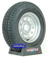 100 14 Inch Truck Tires ST20575D Trailer Tire F78 On A Silver Gray Mod 5 Bolt Wheel