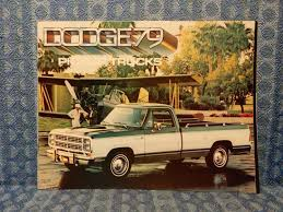 1979 Dodge Pickup Truck Original Sales Brochure - NOS Texas Parts ...