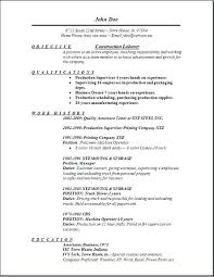 Resume Samples For Construction Jobs With Templates Produce Amazing Free Sample