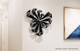 kreative prisma style wanduhr für küche oder wohnzimmer