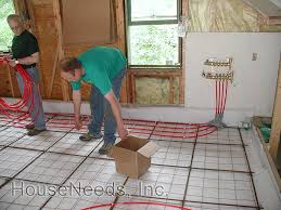 Pex Radiant Floor Heating by Pex Radiant Slab On Grade Pex Underfloor Heating System Install