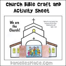 We Are The Church Activity And Coloring Sheet Bible Craft From Daniellesplace