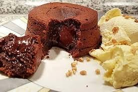 schokoladen lavakuchen