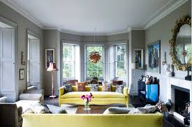 grey living room with yellow sofas living room design ideas