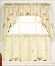 White Kitchen Curtains With Sunflowers by Sunflower Kitchen Curtains Ebay