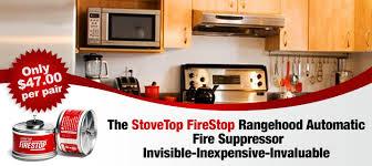 StoveTop FireStop Rangehood Extinguisher