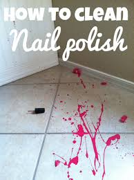 how to clean up a nail spill babycenter