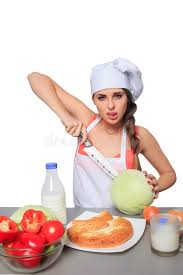 expression cuisine chef holding a knife with expression stock photo image of