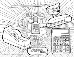 This Week Were Super Excited To Have A Guest Coloring Page From The Incredibly Talented Renee Garner Office Supplies Ever Looked More Metal