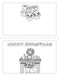 Gifts Design Christmas Card Chimney And Socks Coloring Page