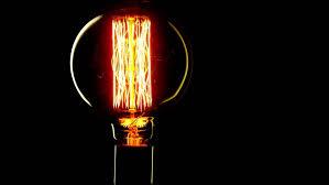 real edison light bulb flickering vintage filament edison light