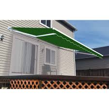 ALEKO Retractable Patio Awning, 10' X 8' (3m X 2.5m), Solid Green ... Retractable Awnings Patio Ideas Awning Costco But Did You Know The 10 Questions Faqretractable Dealers Nuimage Royal Covers Of Arizona Waterproof Home Decor Cozy With Shade Sunshade European Rolling Shutters In The Bay Area 15 Motorized Xl With Woven Acrylic Fabric Aleko X 8 3m 25m Solid Green What Are My Choices When Purchasing A New