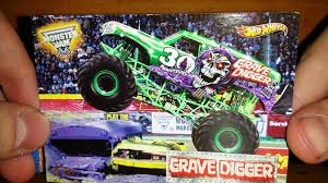100 Monster Truck Grave Digger Videos Hot Wheels Jam 30th Anniversary Green Unboxing