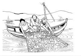 Fisherman Miraculous Catch Is One Of Miracles Jesus Coloring Page