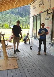 100 The Redding House Jim Andrew Back Deck At House Mennonite Disaster
