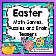 Halloween Brain Teasers Math by Easter Activities Easter Math Games Puzzles And Brain Teasers Tpt