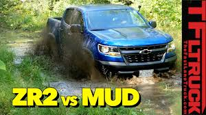 Almost Stuck! Watch The 2018 Chevy Colorado ZR2 Tackle A Mud Bog ...