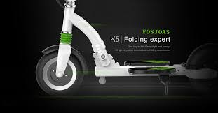 Fosjoas K5 Two Wheeled Electric Scooter 2016 Folding