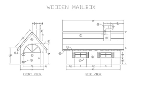 learn how to build a wooden mailbox woodworking plans at lee u0027s