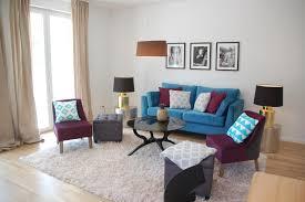 wohnzimmer blau und lila sessel sofa miracle room
