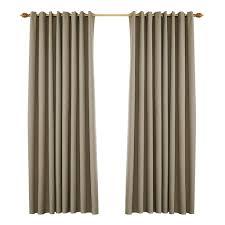 vorhang blickdicht gardine ösen fenstervorhang für schlafzimmer wohnzimmer 134x240cm taupe